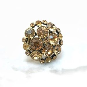 Jewelry - Topaz Rhinestone Cocktail Ring